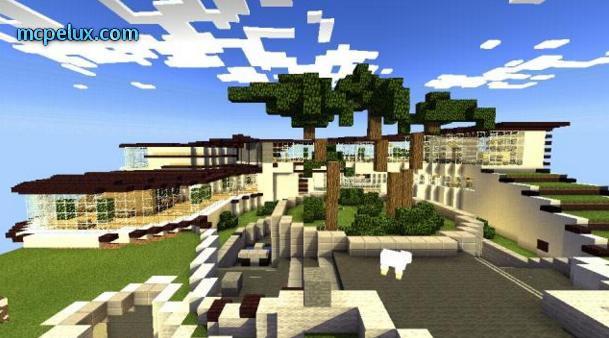 minecraft pe stark mansion download